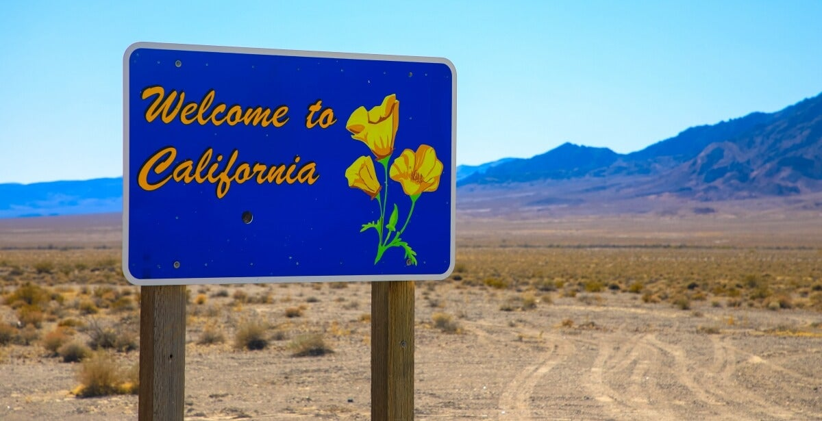 California state sign