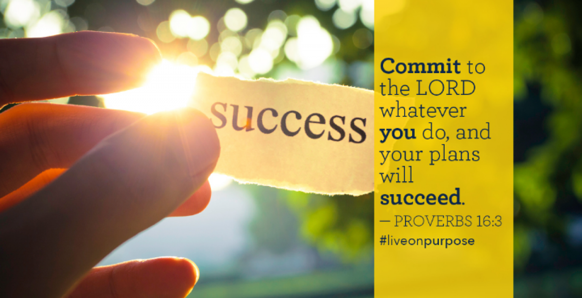 """""""Commit to the Lord whatever you do and your plans will succeed"""" (Proverbs 16:3) graphic"""