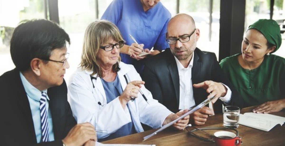 Nurse with MSN/MBA dual degree in boardroom