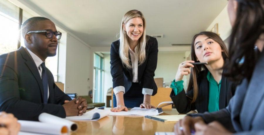 Christian business leaders in meeting room
