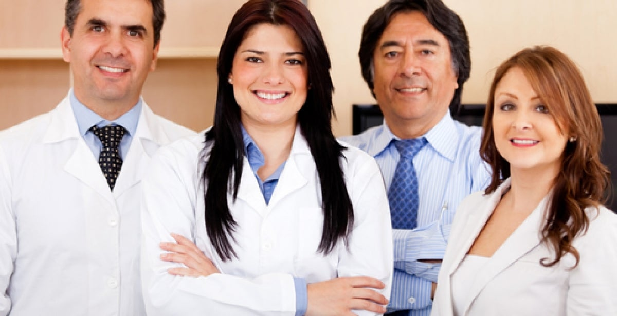 Group of smiling healthcare professionals