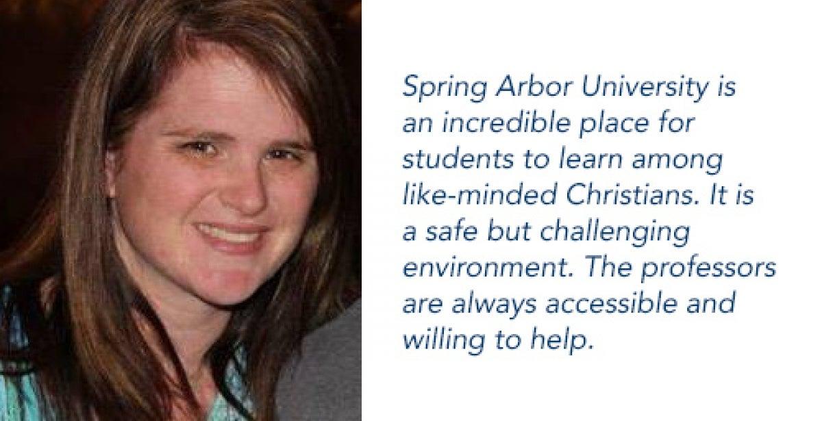Heather Gasaway, Spring Arbor University grad