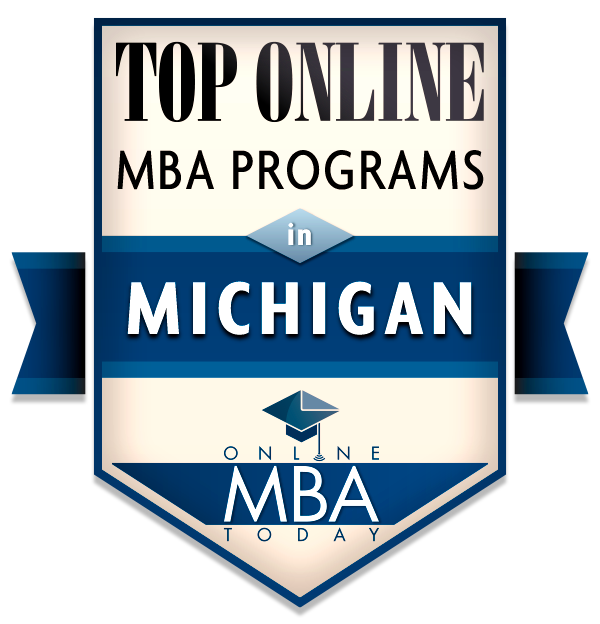 Top Online MBA Programs in Michigan - Online MBA Today Badge