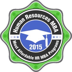Human Resources MBA - Most Affordable HR MBA-Programs 2015 Badge