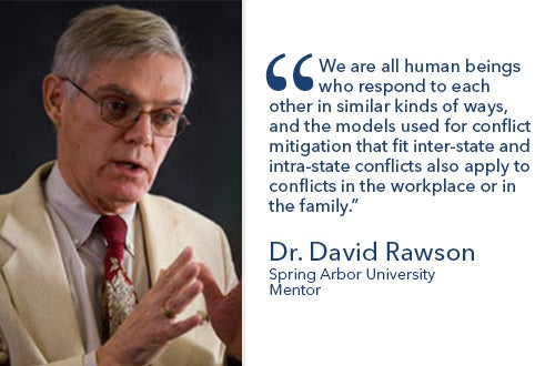 Dr David Rawson - Conflict Resolution - Communications Masters Degree Online