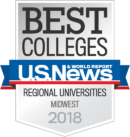 US News Best Colleges Badge - Online Masters Programs from Spring Arbor