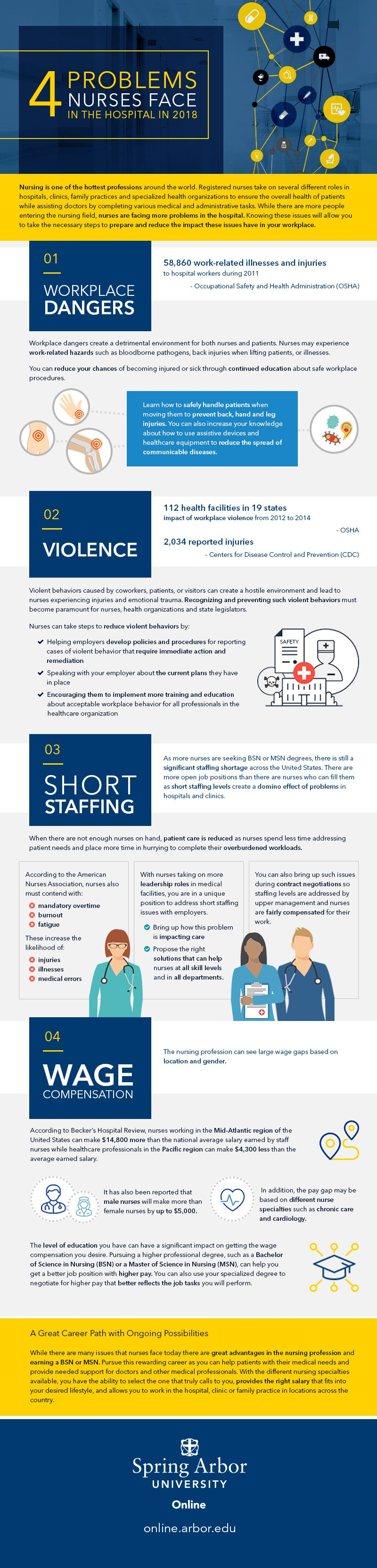 4 Problems Nurses Face in the Hospital in 2018 Infographic
